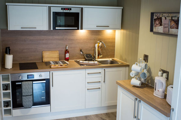 The kitchen in No 2 Fairswood